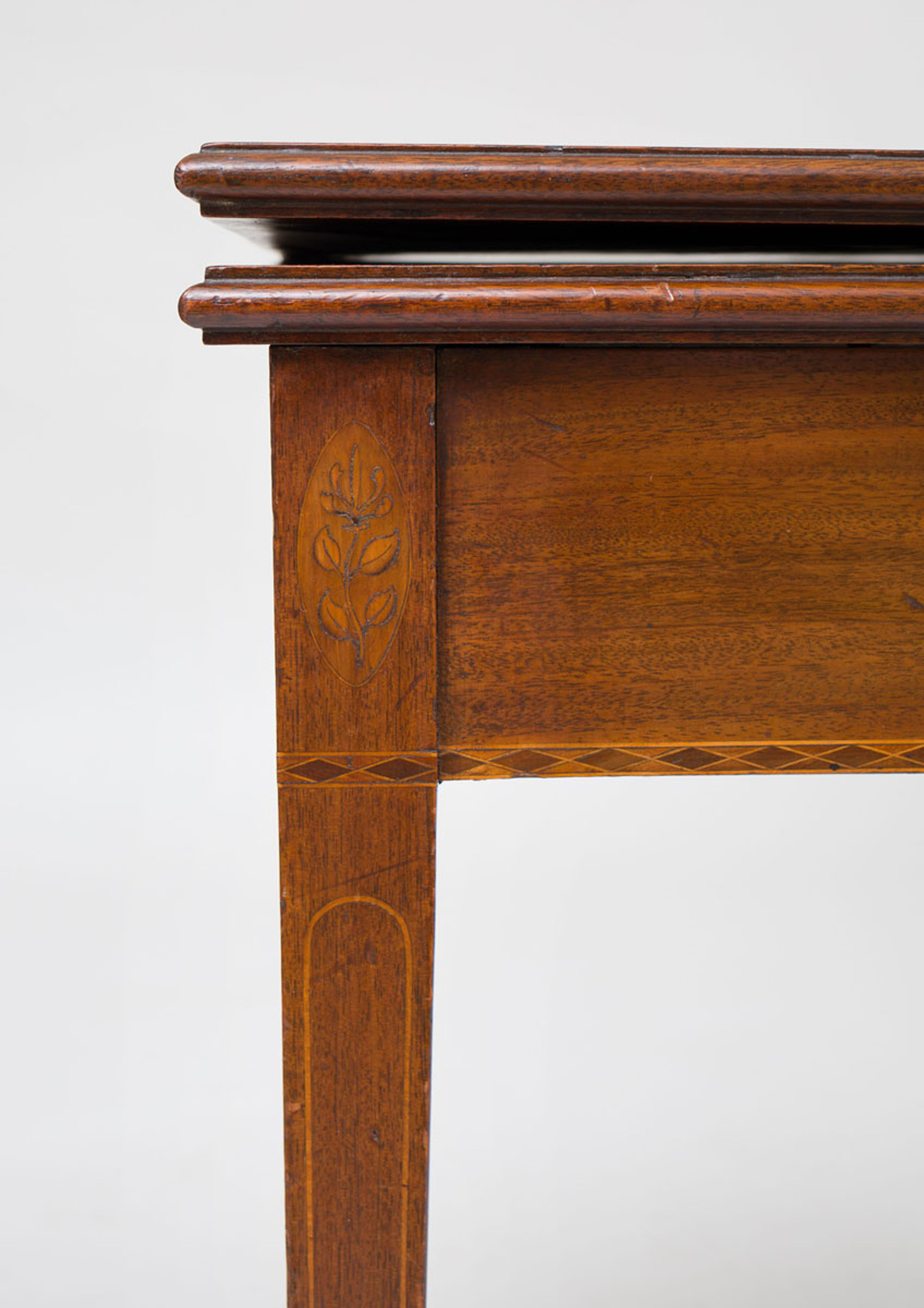 federal inlaid mahogany fold over card table auction house website