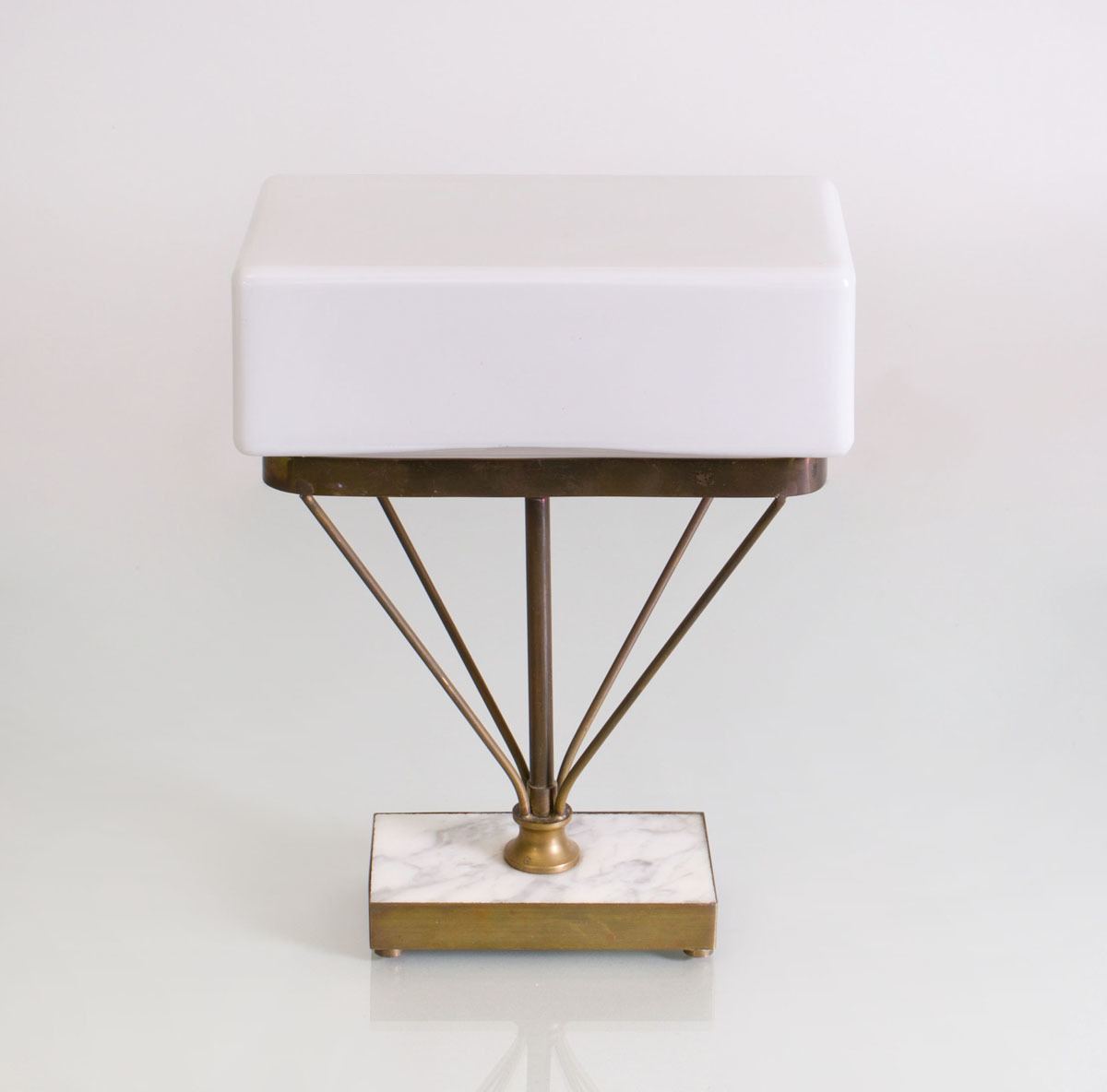 Mid Century Modern Marble And Brass Table Lamp Auction House Website