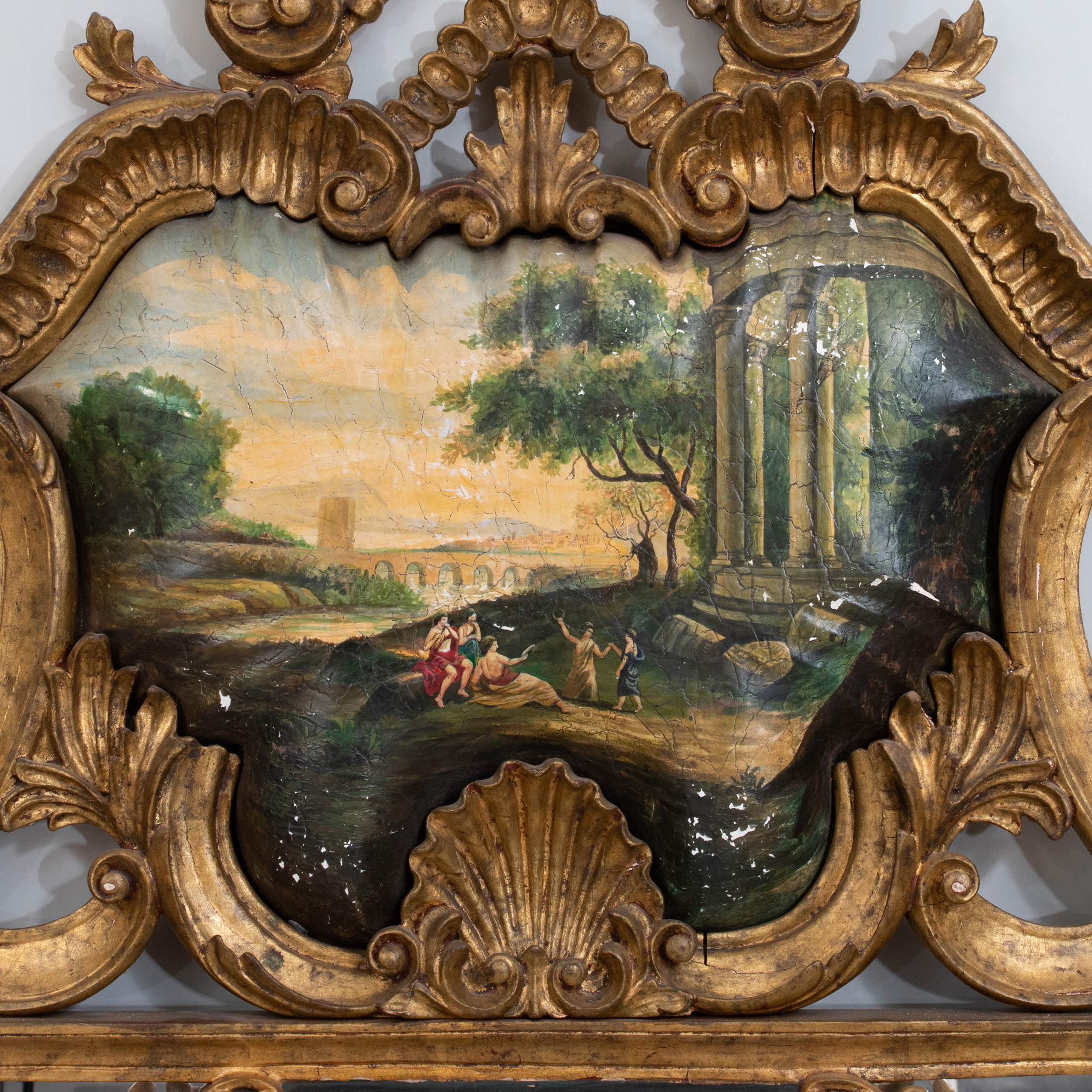 Venetian Rococo Style Painted and Giltwood Mirror ...