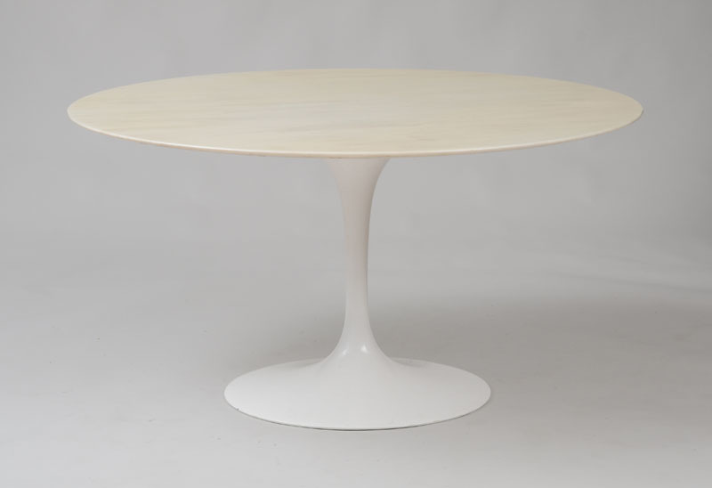 STYLE OF EERO SAARINEN, MARBLE TOP DINING TABLE