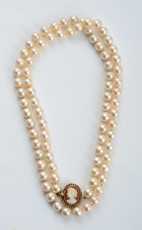 Semi-Baroque, Cultured Pearl Necklace