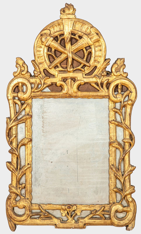 LOUIS XV PROVINCIAL GILTWOOD MIRROR