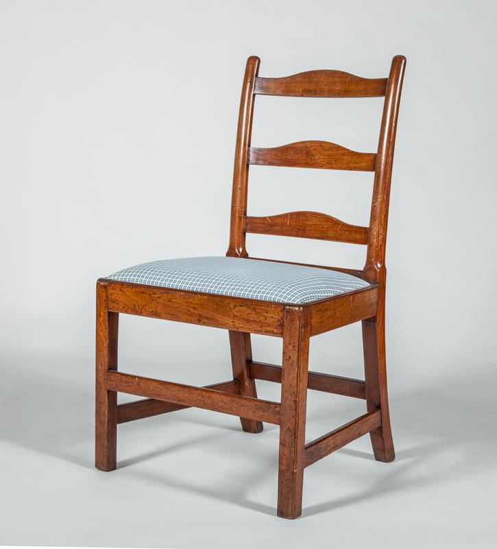 George III Walnut Ladder-Back Side Chair