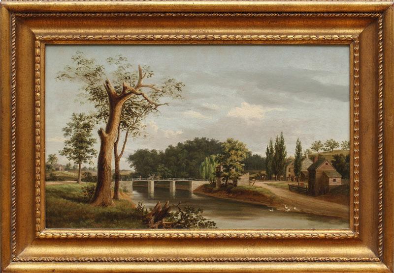American School: Landscape and Stream with Bridge