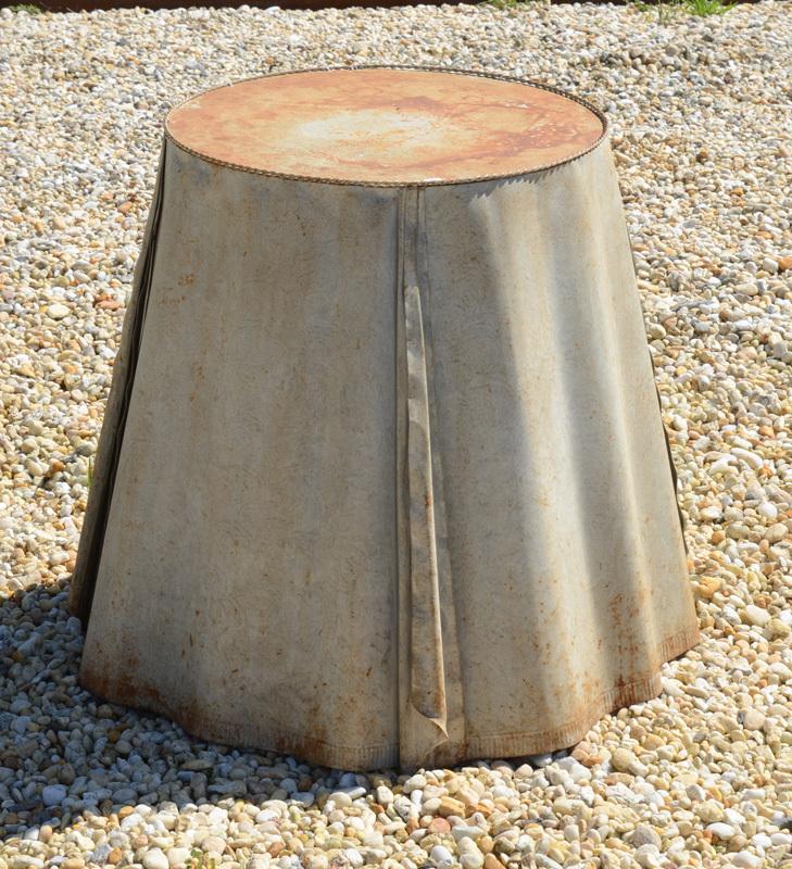 JOHN DICKINSON STYLE TIN SKIRTED TABLE