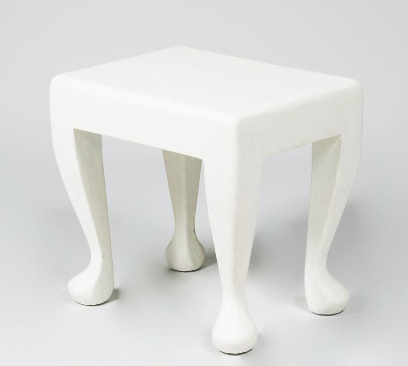 JOHN DICKINSON-STYLE PLASTER END TABLE