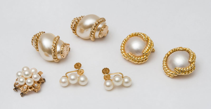 Three Pairs of Earclips