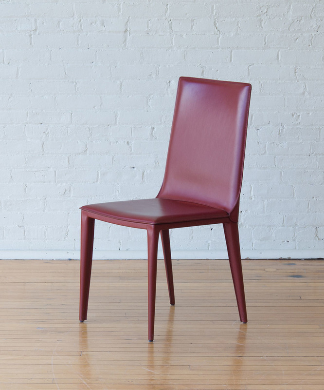 FRAG LEATHER-WRAPPED 'EVIA' SIDE CHAIR