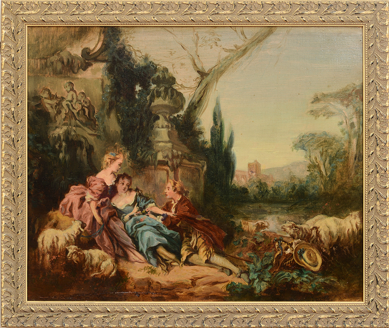 FRENCH SCHOOL: THE SHEPHERDESS' SUITOR