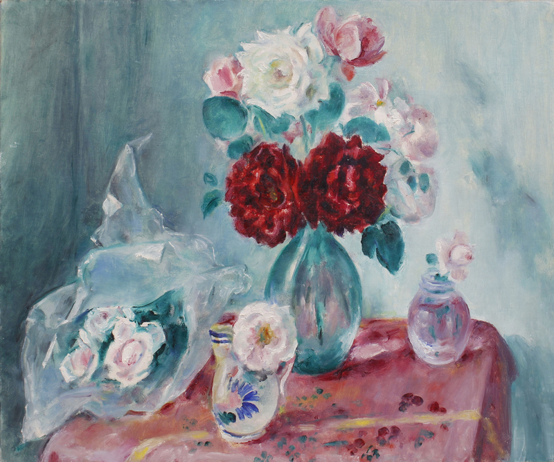 MARTHA WALTER (1875-1976): STILL LIFE WITH ROSE BOUQUETS
