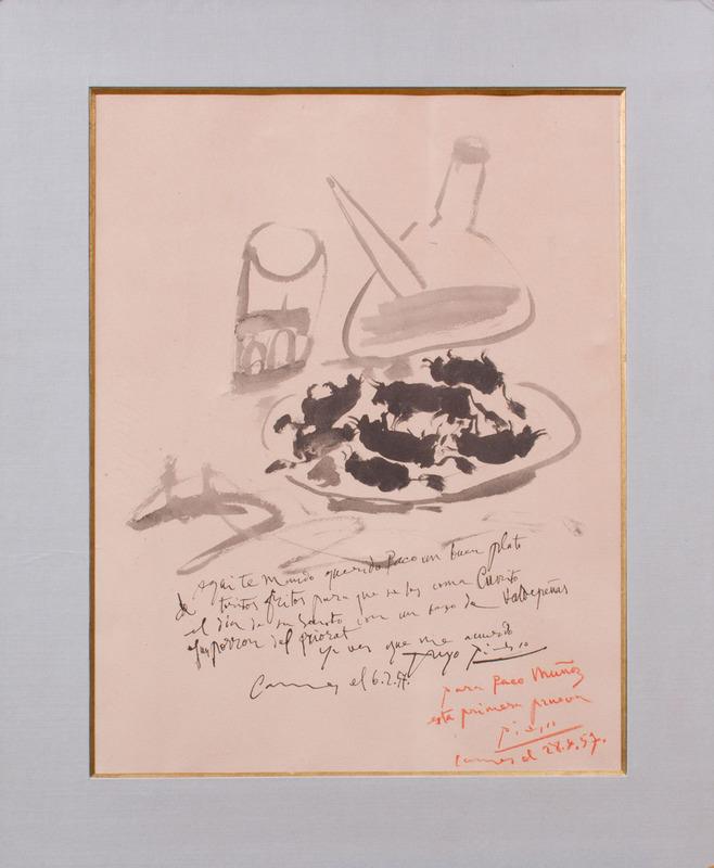 AFTER PABLO PICASSO (1880-1973): PLATO DE TORITOS FRITOS