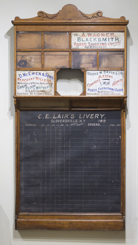 AMERICAN LIVERY SIGN, C.E. LAIR'S LIVERY, GLOVERSVILLE, NY