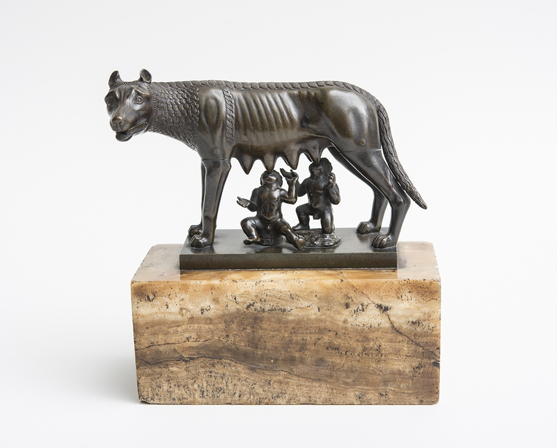 ITALIAN BRONZE MODEL OF ROMULUS AND REMUS, AFTER THE ANTIQUE