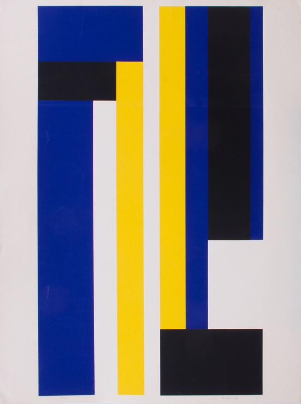 ILYA BOLOTOWSKY (1907-1981): BLUE AND YELLOW