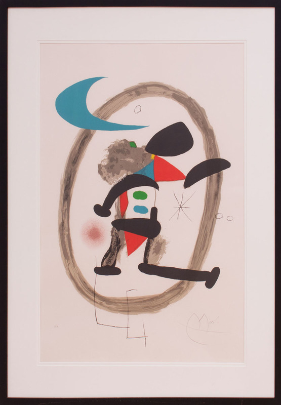 ATTRIBUTED TO JEAN MIRÓ (1893-1983): ARLEQUIN CIRCONSCRIT