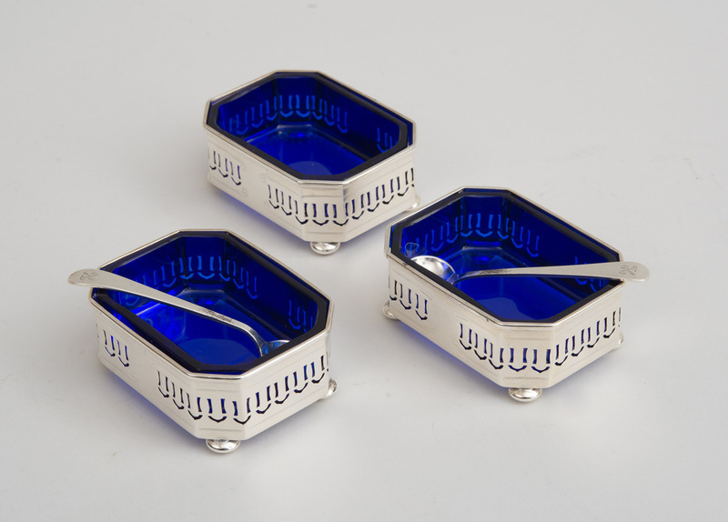 SET OF THREE STERLING SILVER SALTS