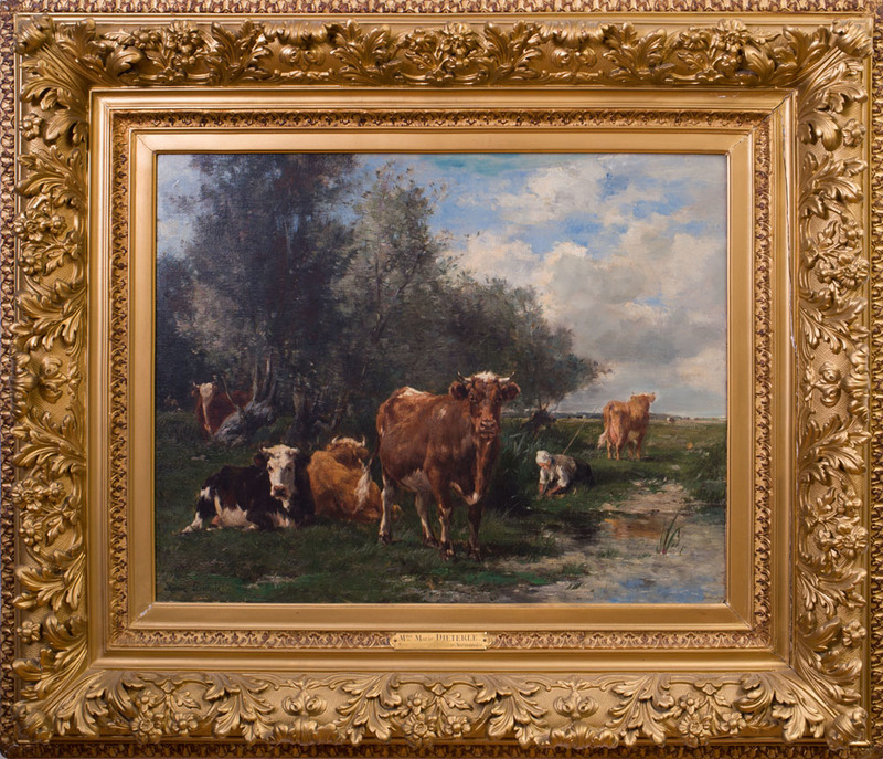 MARIE DIETERLE (1856-1935): CATTLE IN NORMANDY