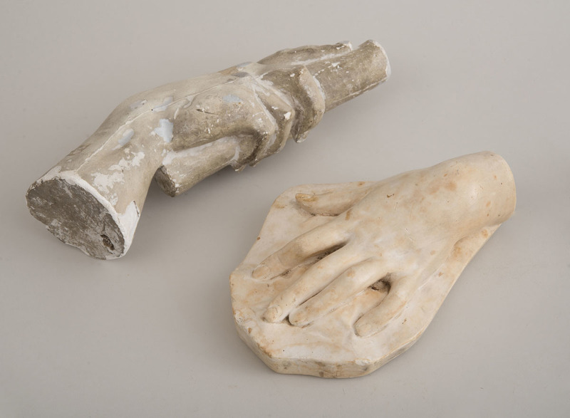 TWO PLASTER MODELS OF HANDS