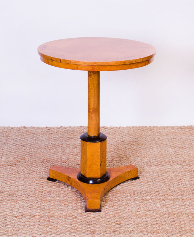 RUSSIAN NEOCLASSICAL STYLE BIRCH SIDE TABLE