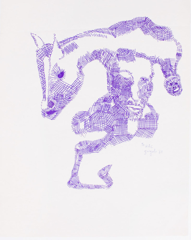 SANTOS ZINGALE (1908-1999): UNTITLED (HORSE AND HEAD)
