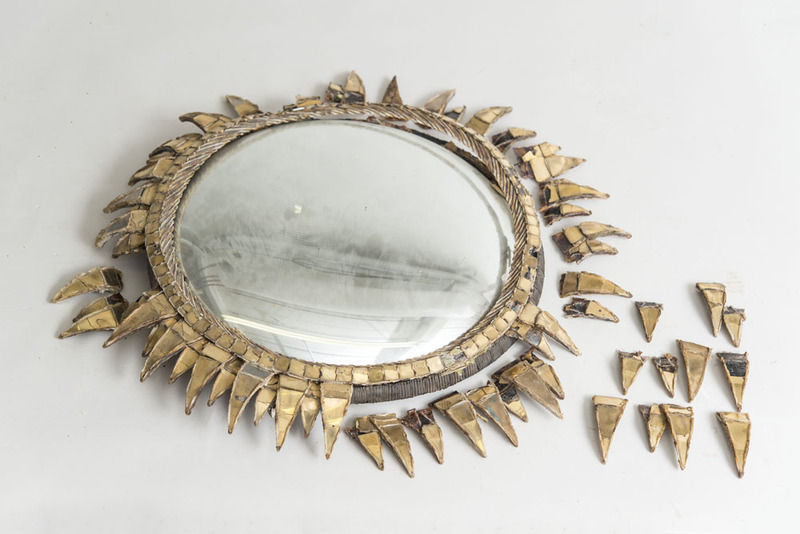 LINE VAUTRIN RESIN AND GLASS MIRROR