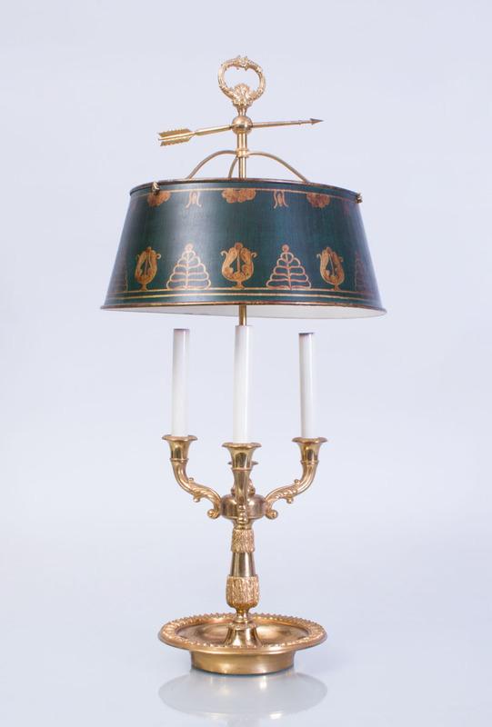 LOUIS XVI STYLE GILT-BRONZE BOUILLOTTE LAMP