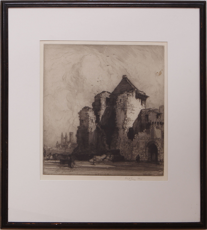 HEDLEY FITTON (1857-1929): ST. ANDREW'S CASTLE, FIFE