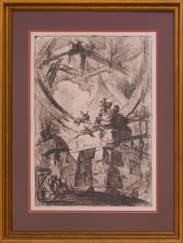 GIOVANNI BATTISTA PIRANESI (1720-1778): THE GIANT WHEEL, FROM IMAGINARY PRISONS