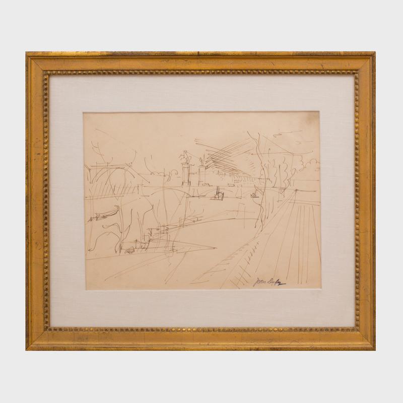 Jean Dufy (1888-1964): Pont Alexandre, Paris