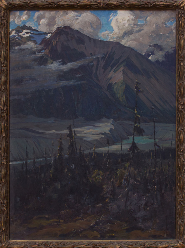 ROBERT VAN VORST SEWELL (1860-1924): NILES GLACIER FROM THE DELTA; AND RUSKULANA GLACIER FROM NUGGETT CREEK TRAIL