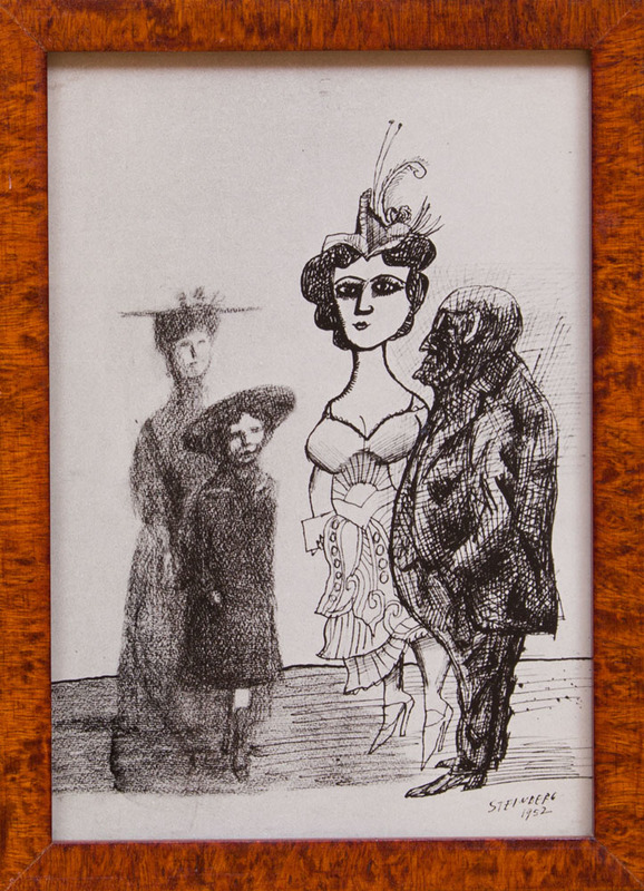 AFTER SAUL STEINBERG (1914-1999): HARD AND SOFT (POSTCARD)