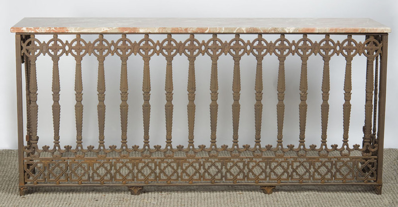 CONTINENTAL IRON CONSOLE TABLE