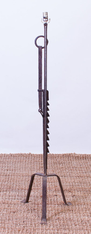 WROUGHT-IRON FLOOR LAMP
