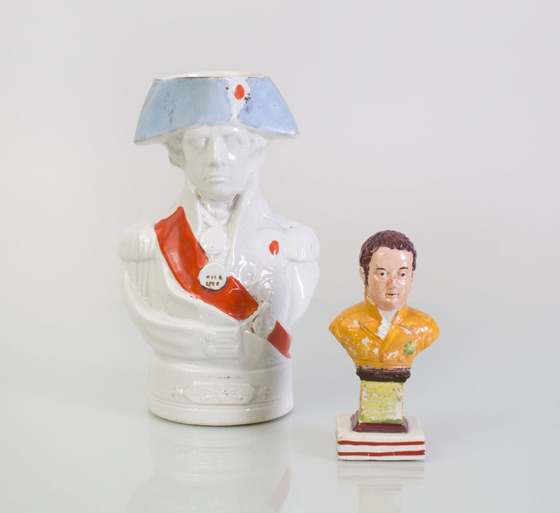 TOBY JUG AND STAFFORDSHIRE BUST OF THE DUKE OF YORK