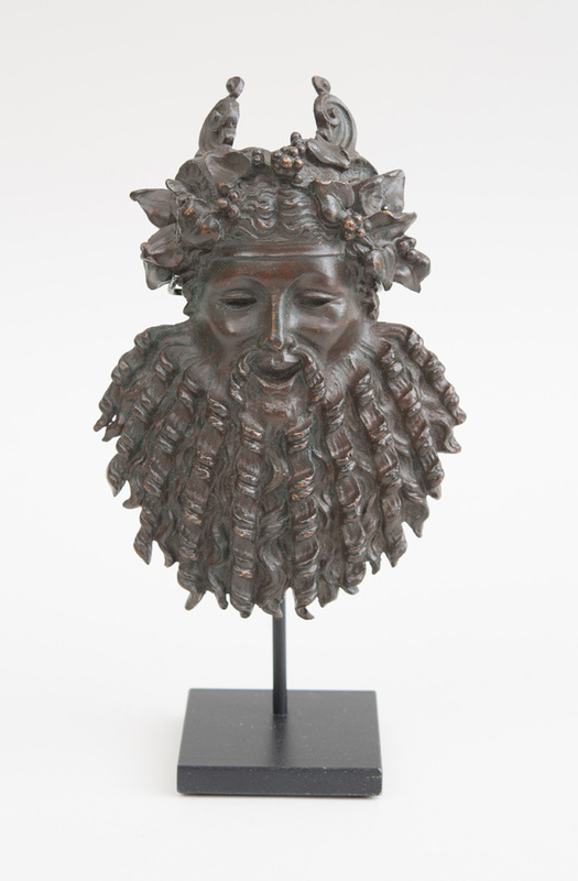 FRENCH BRONZE SMALL BACCHUS MASK HEAD, AFTER THE ANTIQUE