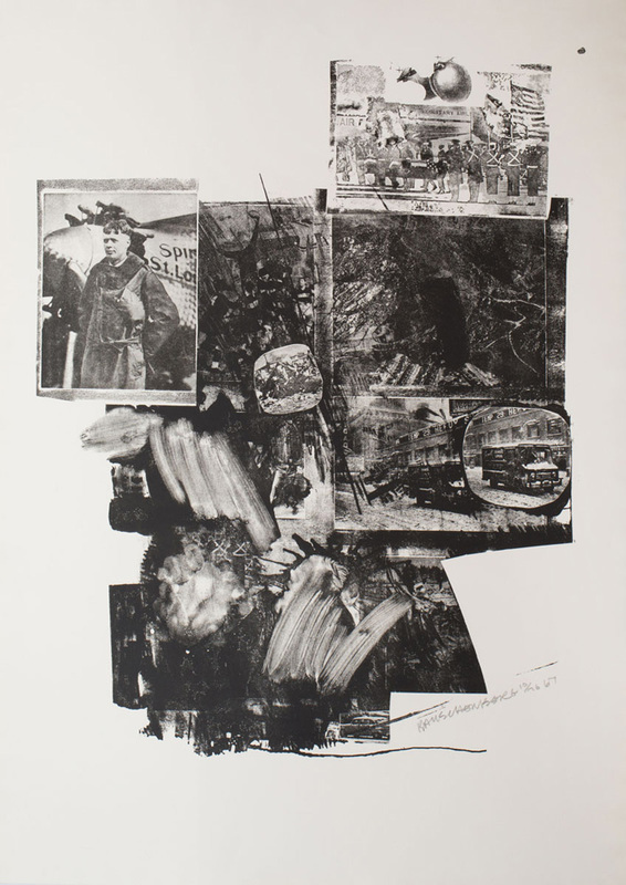 ROBERT RAUSCHENBERG (1925-2008): TEST STONE #2, FROM BOOSTER AND SEVEN STUDIES