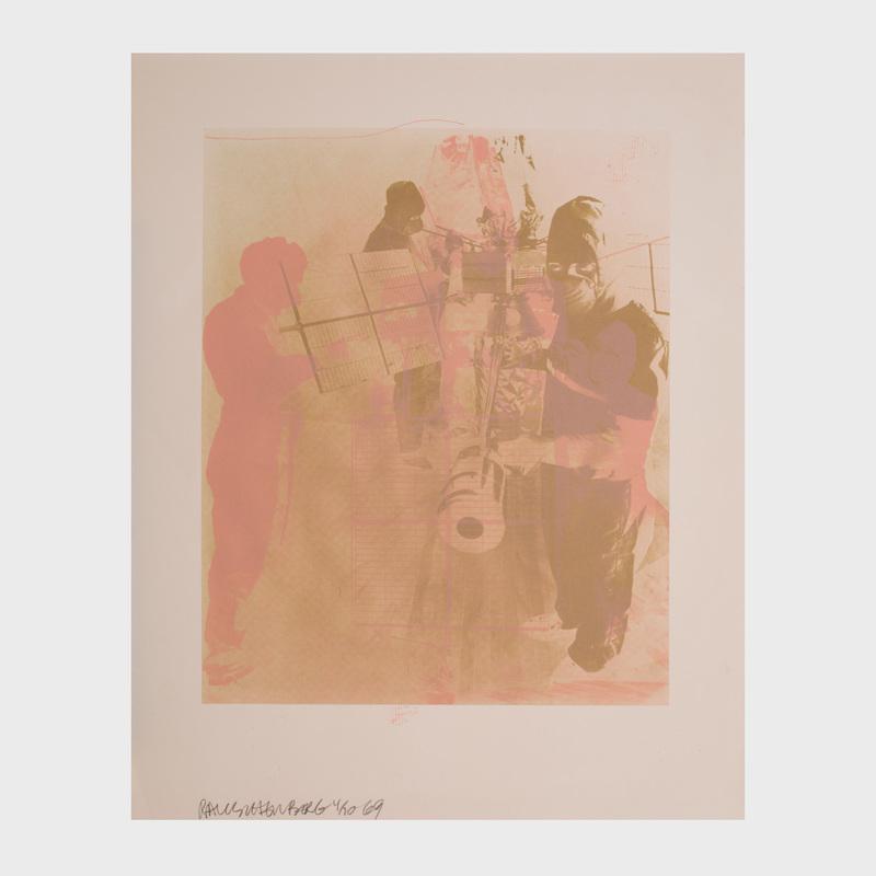 Robert Rauschenberg (1925-2008): Shell from Stoned Moon Series