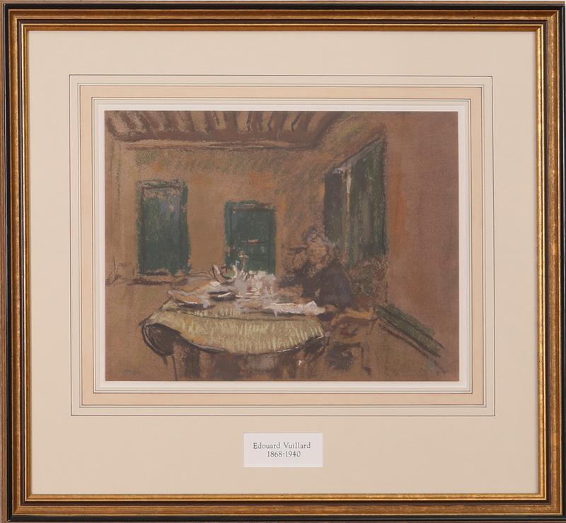 AFTER EDOUARD VUILLARD (1868-1940): WOMAN AT TEA