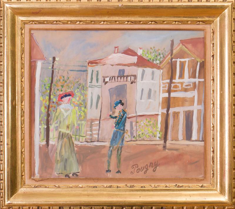 20TH CENTURY SCHOOL: FIGURES ON THE STREET
