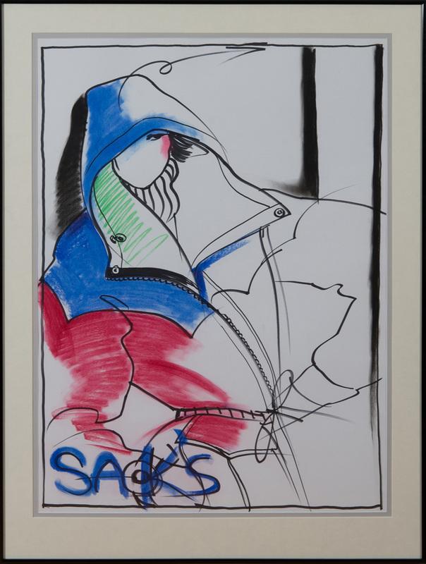 ANTONIO LOPEZ (1943-1988): FASHION SKETCH