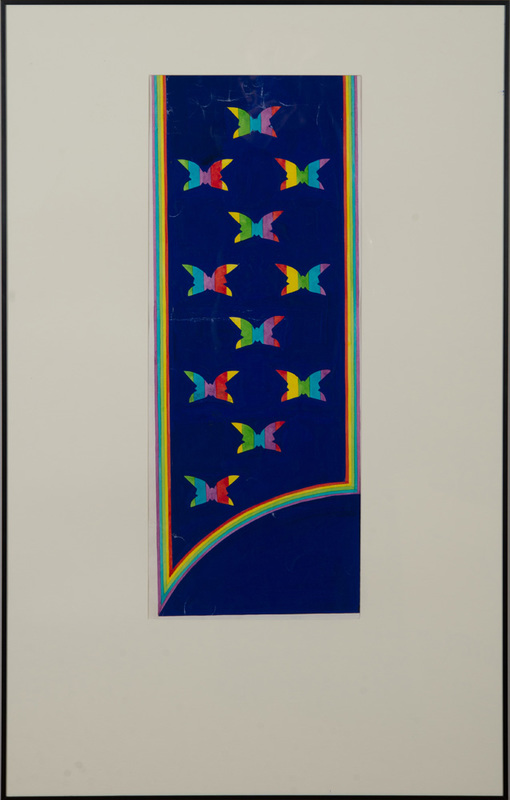 ANTONIO LOPEZ (1943-1988) AND JUAN RAMOS (1942-1995): FABRIC DESIGNS: TWO BUTTERFLY SKETCHES
