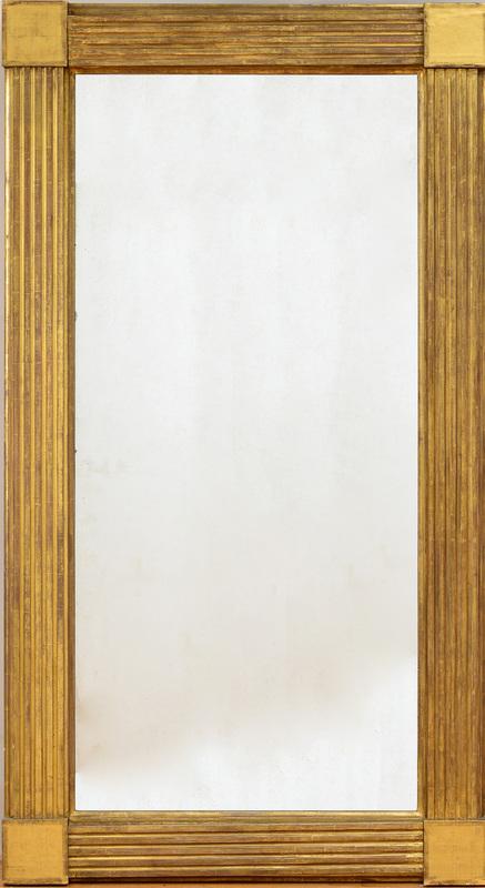 Pair of Monumental American Federal Giltwood Pier Mirrors