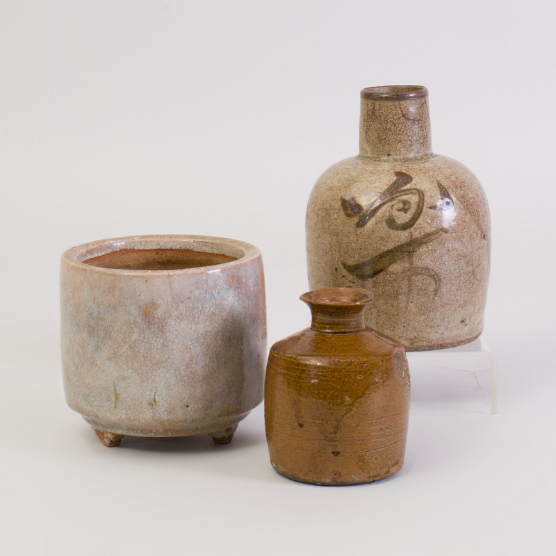 Group of Three Chinese Glazed Vessels