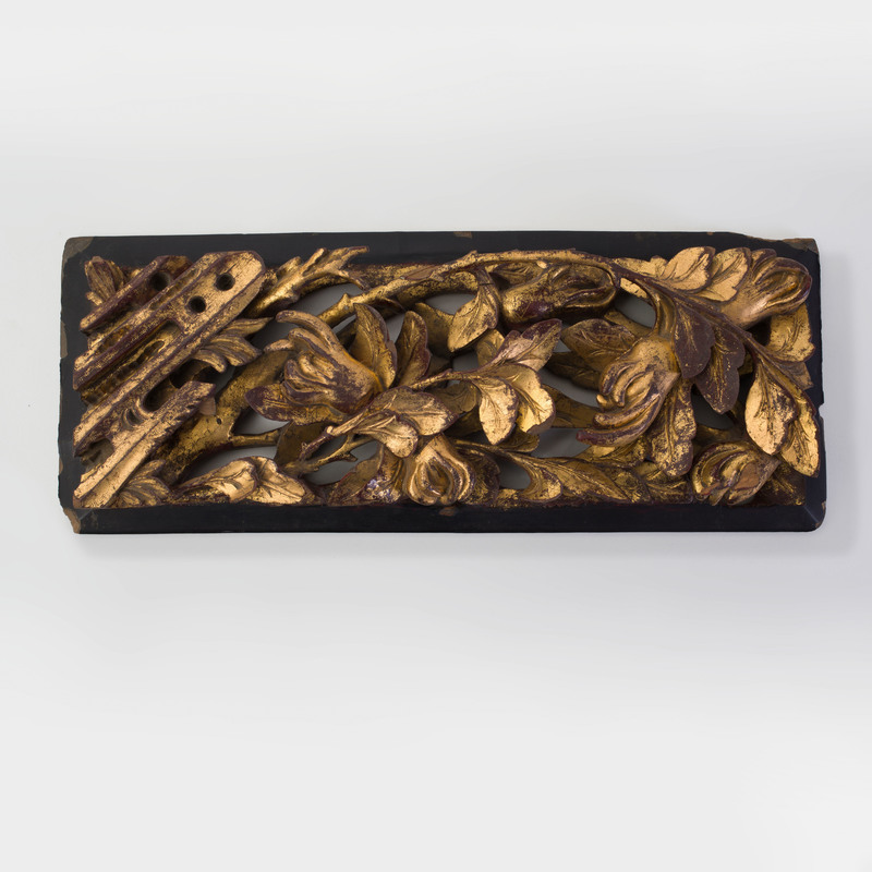 Chinese Parcel-Gilt Wood Fragment