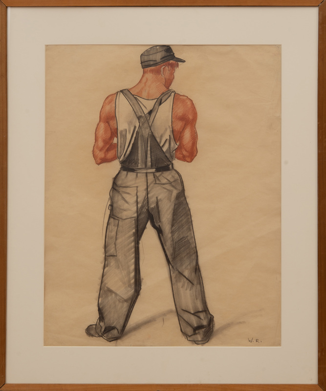 WINOLD REISS (1886-1953): STUDY FOR THE MURALS AT THE CINCINNATI UNION TERMINAL (WORKMAN)