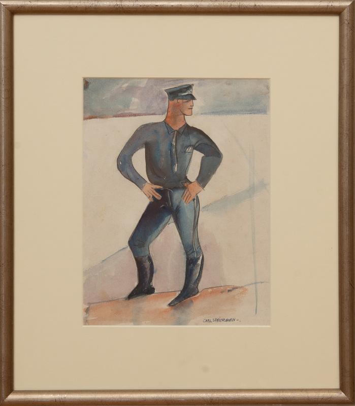 CARL SPRINCHORN (1887-1971): POLICE OFFICER IN BLUE