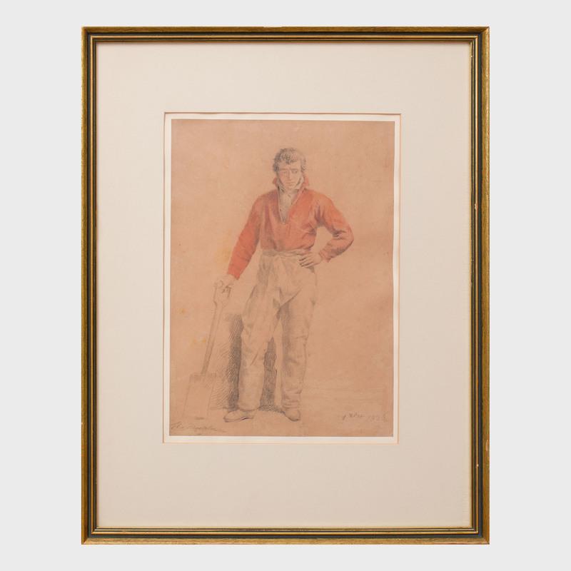 Ferdinand de Braekeleer (1792-1883): Study of a Man with a Shovel