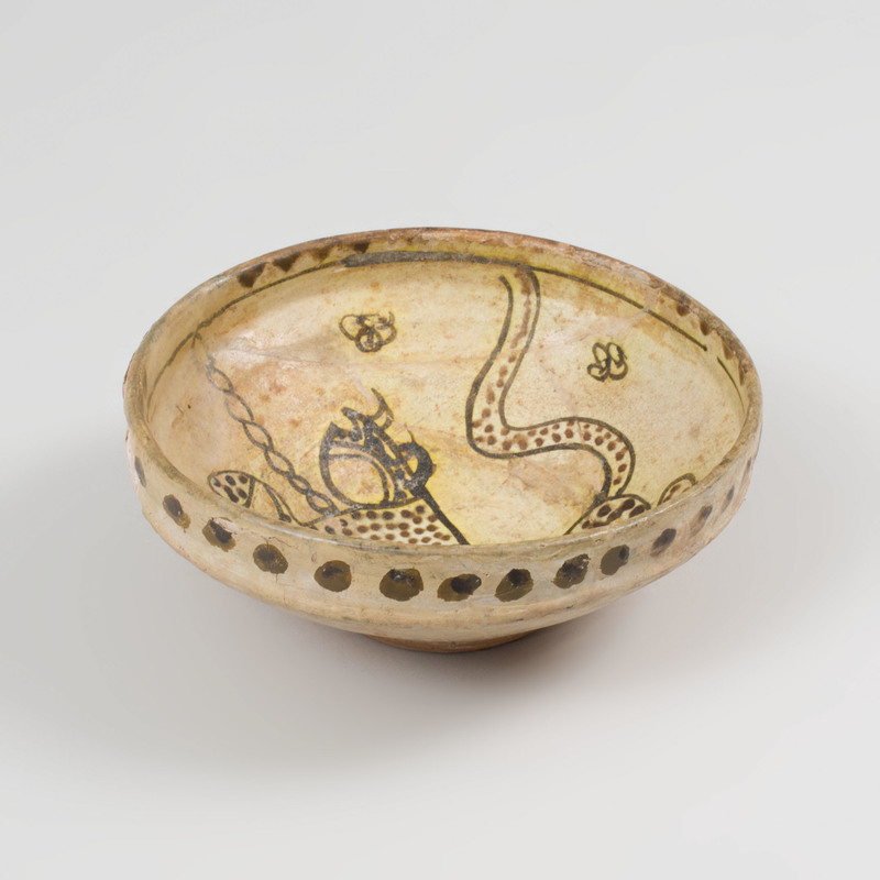Nishapur Painted Pottery Bowl
