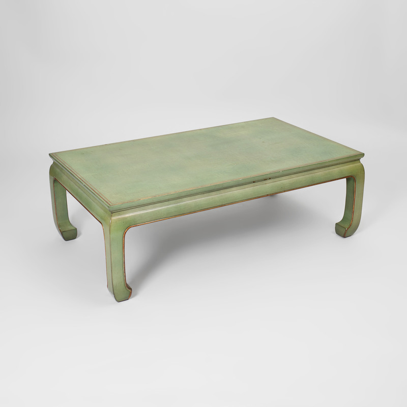 Chinese Style Parcel-Gilt Green Lacquer Low Table