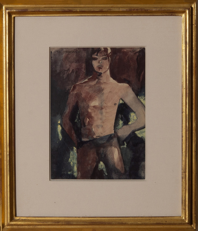 CARL SPRINCHORN (1887-1971): UNTITLED (STUDY OF A YOUNG MAN)